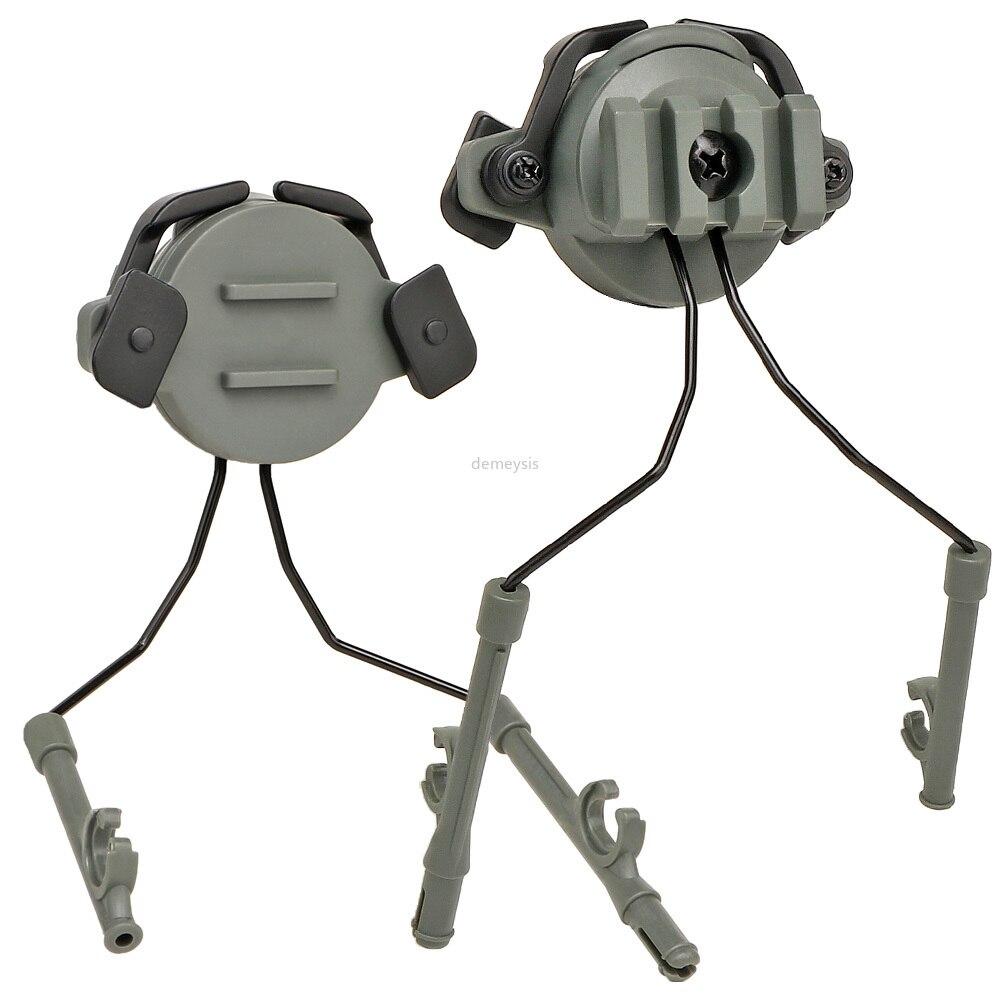 Tactical Fast Rail Mounts Headset Rail Adapter Headset Holder Set Shooting Helmet 360 Rotation Helmet Rail Suspension Bracket
