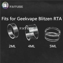 3 pçs fatube bolha de vidro cigarro acessórios para geekvape blitzen rta 2 ml/4 ml/5 ml