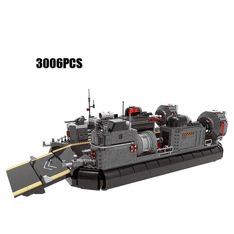 Figura militar transporte de tropas blindado barco Moc edificio bloque colección Minifigs a través del campo de batalla Batisbricks juguete