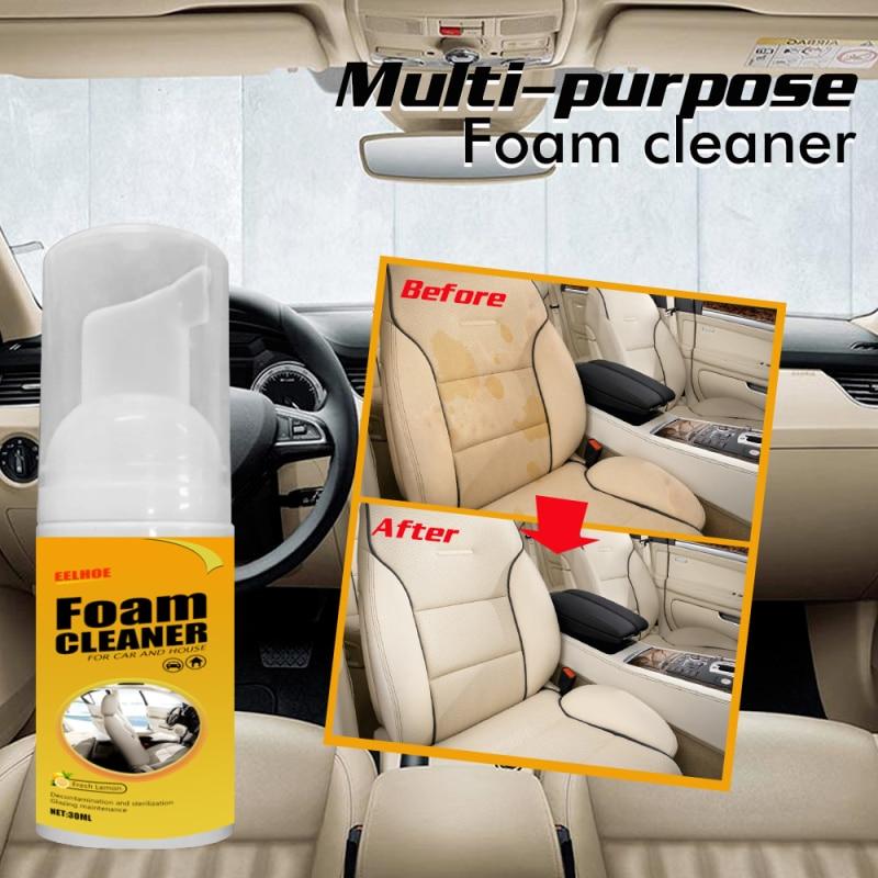 New 30ml Car Interior Cleaning Foam Cleaner Car Seat Interior Car Cleaner Auto Leather Clean Wash Car Interior Maintenance Clean