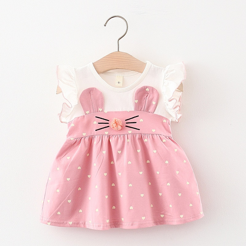 AliExpress - Melario Baby Girl Dress New Summer Kids Dresses Cute Love Printing Rabbit Ears Baby Outfit Infant Toddler Clothes for 6M 24M