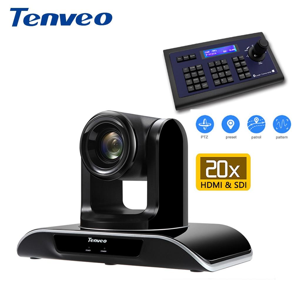 Mit PTZ Tastatur Controller Tenveo HD 1080p60fps HDMI PTZ Video Konferenz Kamera 20X Zoom USB 2,0 HDMI Ausgang für Projektor
