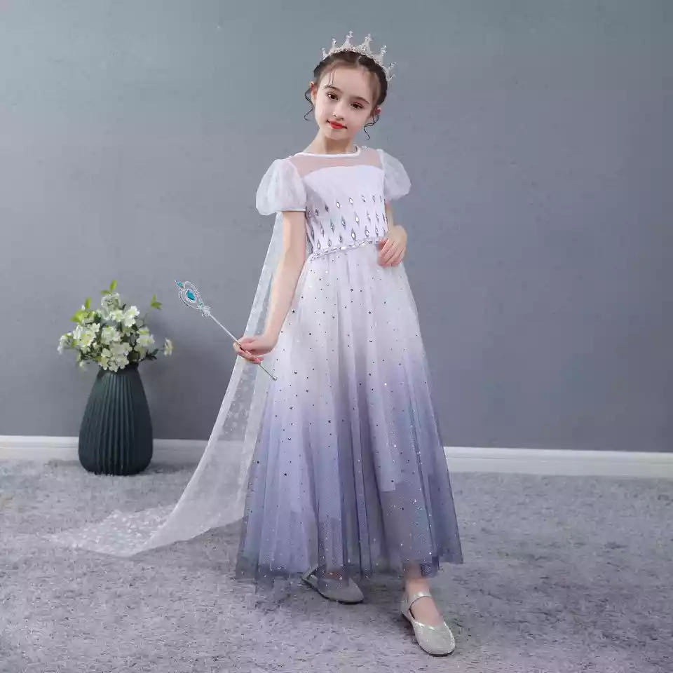 Disney Frozen Toddler Dance Dress Aisha Dress Dress Children's Day Performance Dress Girls Birthday Dress Summer Dress фото