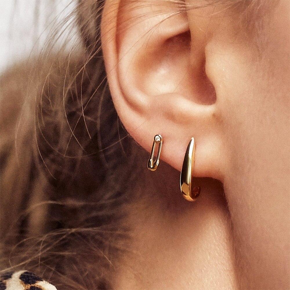 2020 nueva moda mosaico Diamante de imitación de zirconia oreja clip de papel de metal modelado oreja clip pendientes para mujeres regalos de joyería de fiesta