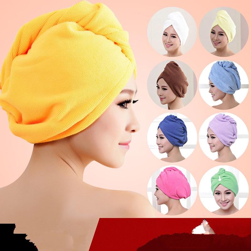 Microfiber Bath Towel Hair Dry Quick Drying Lady Bath towel soft shower cap hat for lady man Turban