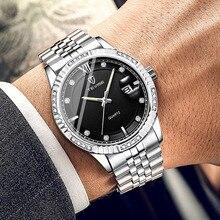 Luminous Watches Men Fashion Watch 2021 Luxury Stainless Steel Band Reloj Wristwatch Business Clock