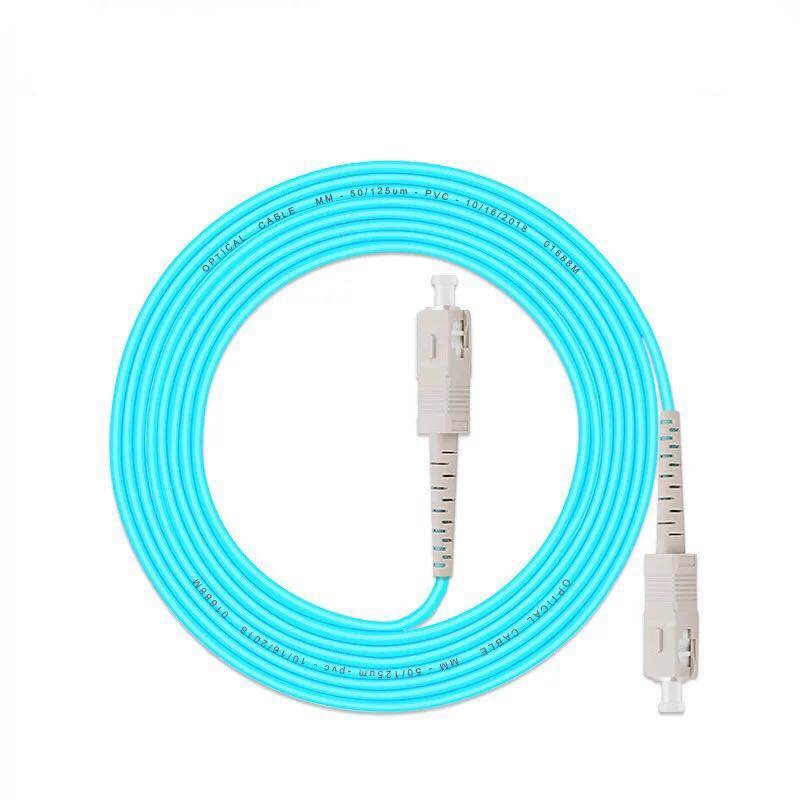 5 unids/lote SC/UPC -SC/UPC Cable de parche de fibra óptica OM3 10G 50/125 Cable de fibra multimodo simple puente óptico