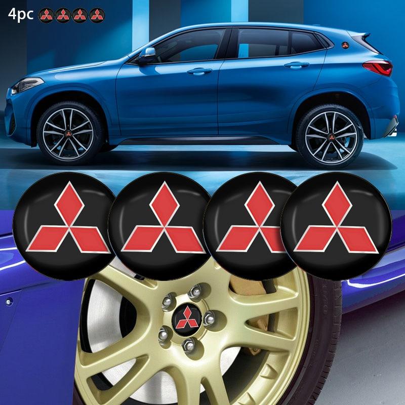 4 Uds nuevo estilo de coche neumático de coche tapas de cubo de rueda a prueba de polvo emblema para Mitsubishis ASX L200 coche EVO Accesorios
