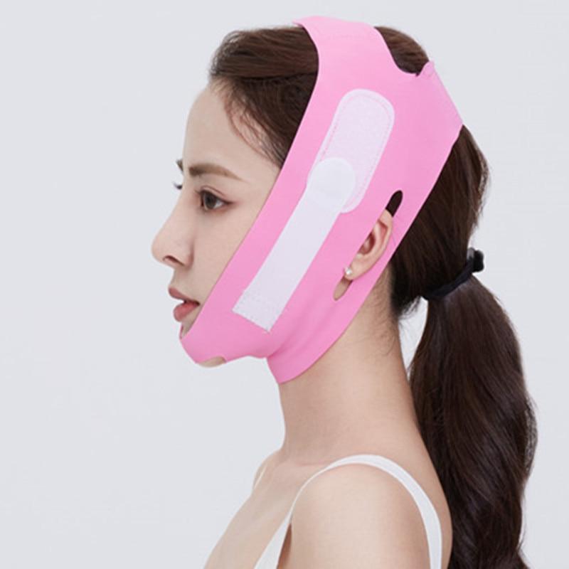 Elastic Face Slimming Bandage V Line Face Shaper Chin Cheek Lift Up Belt Women Facial Anti Wrinkle S