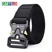 Unisex outdoor sports tactical multifunctional high quality canvas belt for men female luxury male J
