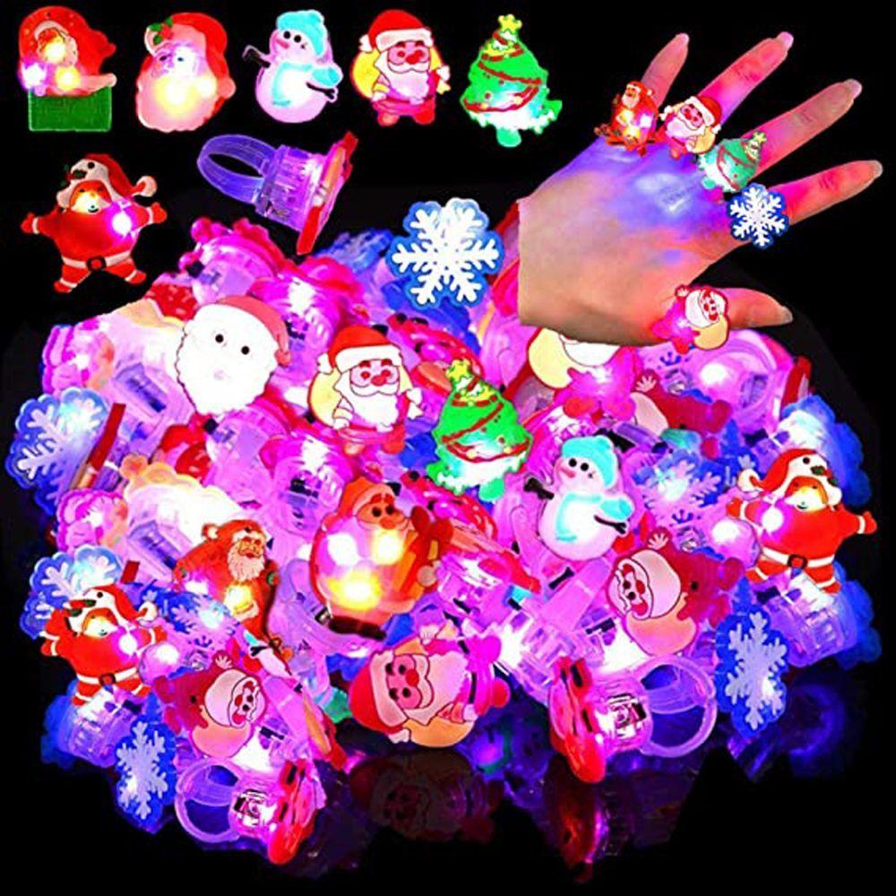 Светящиеся светодиодные Мультяшные огни, светящиеся в темноте игрушки для детей, светящиеся кольца, Рождественские сувениры, детские игруш...