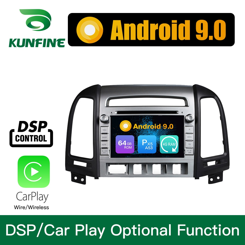 Android 9.0 Octa Core 4GB RAM 64GB ROM Car DVD GPS Multimedia Player Car Stereo for Hyundai IX45 Santa Fe 2013 2014 Radio Unit