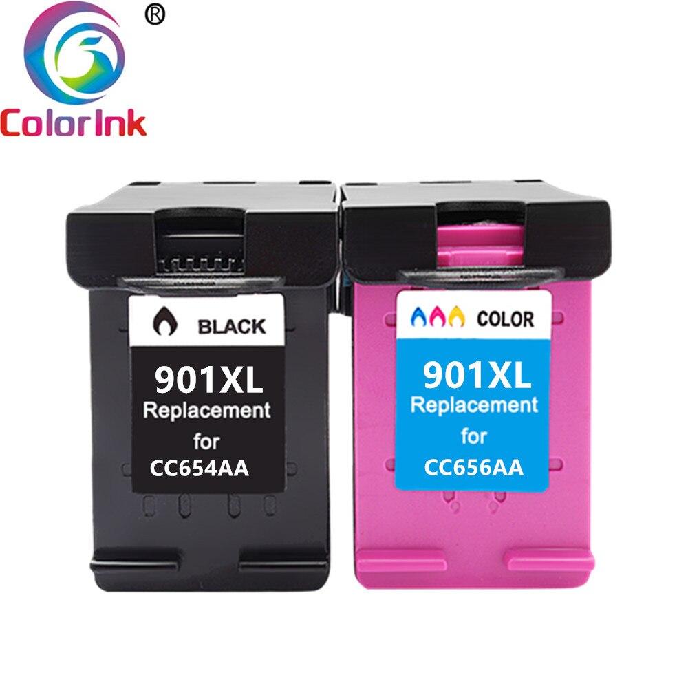 ColoInk 2Pack For HP 901XL 901 Ink Cartridge Remanufactured  for HP Officejet 4500 J4500 J4540 J4550 J4580 J4640 J4680c printers