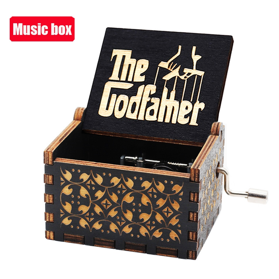 Classical Hot Hand Crank Music Box Sailor Moon Godfather Love Dad Digimon Theme Classical Chirstmas