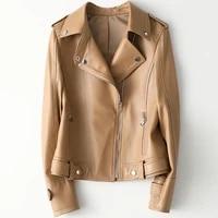 2021 women fashion genuine real sheep leather jacket h17