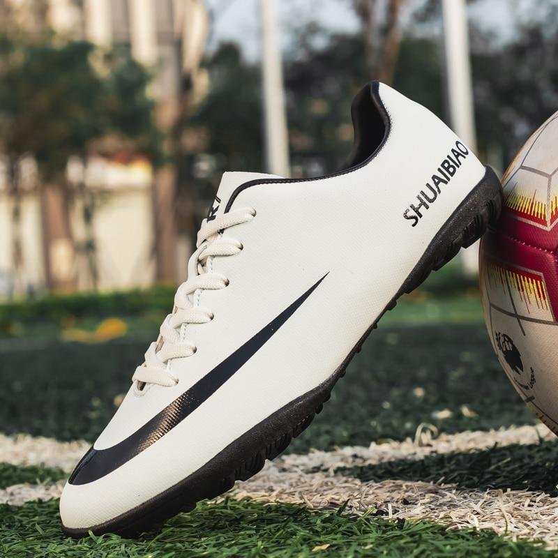 Outdoor men's football shoes parent-child non-slip football spikes sports training FG / TF football shoes turf futsal men #32-44