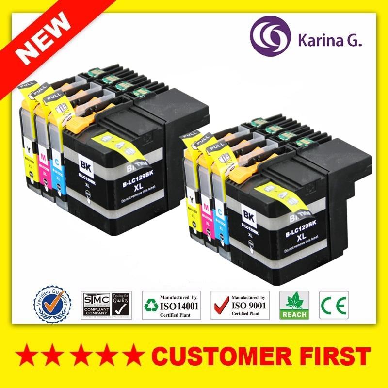 Cartucho de tinta Compatible para LC129 LC125 para Brother MFC-J6520DW MFC-J6720DW