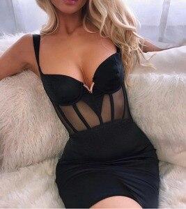 Высокое качество сексуальный v-образный вырез; Босоножки с перфорацией; Черный Розовый Бандажное платье 2021 как у знаменитостей, дизайнерские модные вечерние платье Vestido