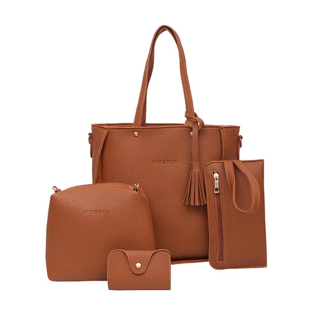 Conjunto de cuatro bolsos para mujer, bandoleras, bolso de Cuatro piezas, gran oferta, bolso cruzado, bolso de combinación multiusos # LR4