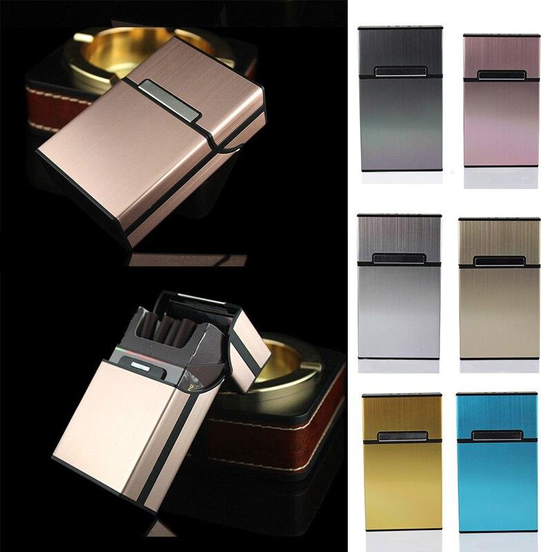 Аксессуары для курения мужской подарок 1 шт. Контейнер Для Хранения Сигар Чехлы для сигарет алюминиевый сплав держатель для табака карманная коробка