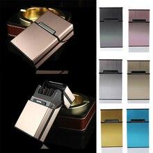Roken Accessoires Mannen Gift 1Pc Sigaar Opslag Container Sigaret Gevallen Aluminium Tabak Holder Pocket Box
