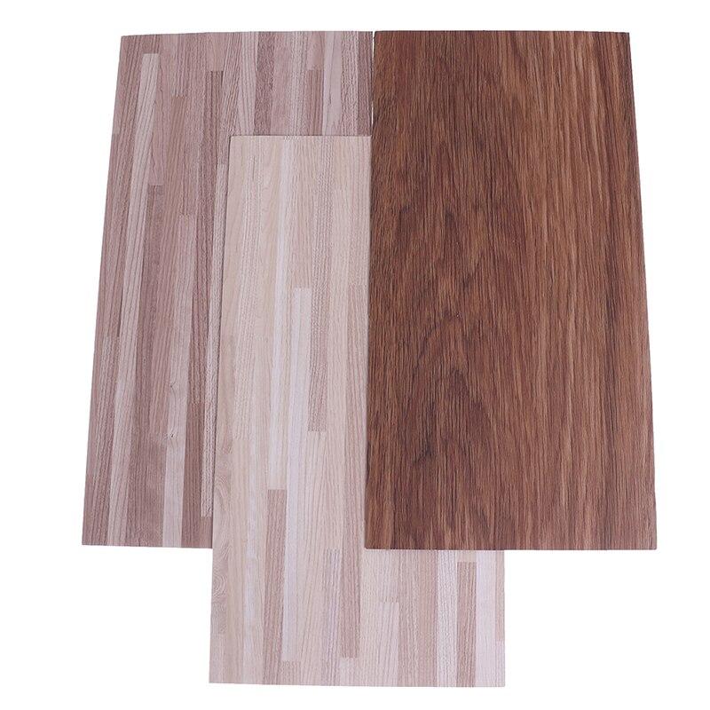 Piso de madeira diy material casa de bonecas em miniatura pvc imitação piso de grão de madeira