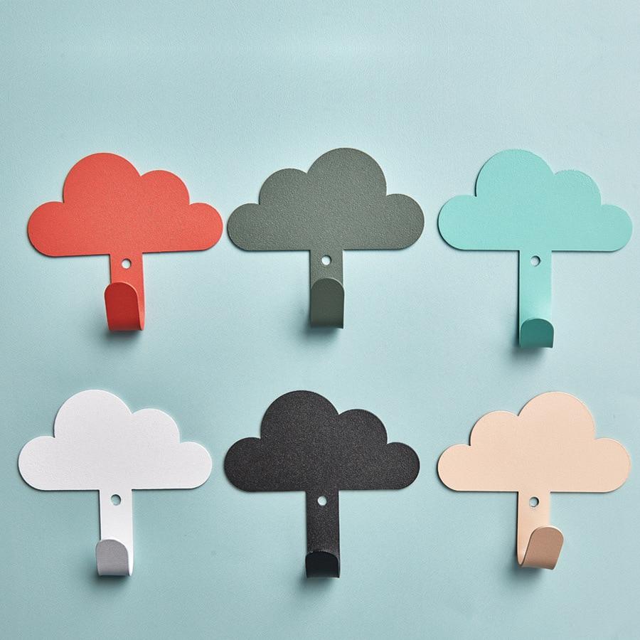 Скандинавская одежда настенная вешалка пальто крючок в форме облака крюк стена детской комнаты декор Детская комната декоративная вешалка