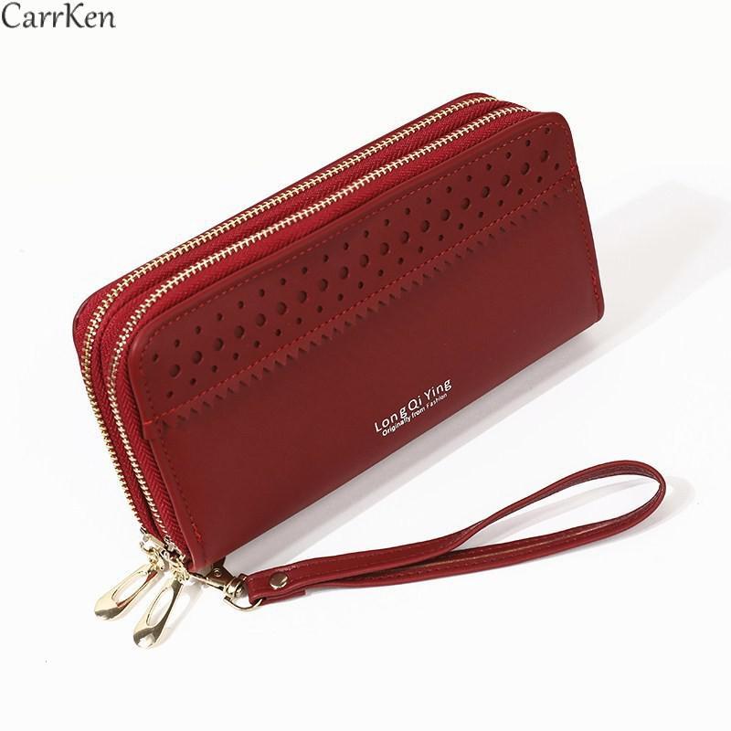 Женский кошелек с надписью, маленький кошелек для мелочи, клатч на молнии, модные женские длинные кошельки, кошелек для мелочи 2021