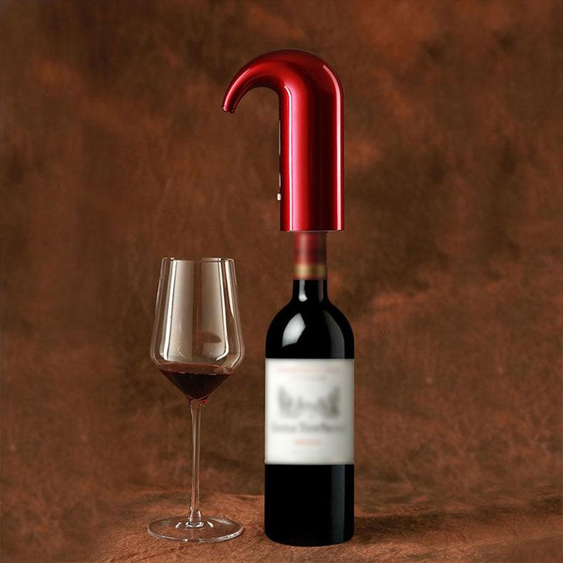 مضخة دورق نبيذ إلكترونية ذكية ، مهوية نبيذ فورية كهربائية ، أحمر وأبيض