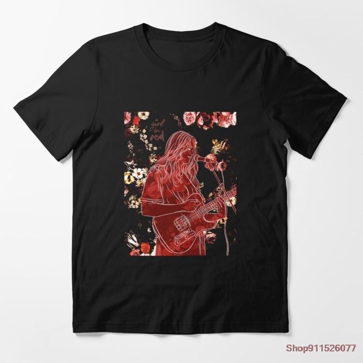 Camiseta de chica en rojo para hombre y mujer, camiseta holgada 100%...