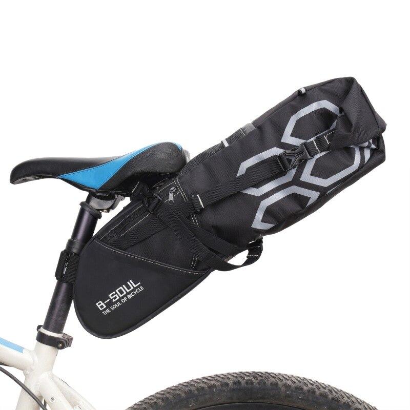 B-SOUL 12л велосипедная багажная сумка большой емкости велосипедное седло заднее сиденье водонепроницаемые сумки для хранения велосипедные задние упаковочные сумки