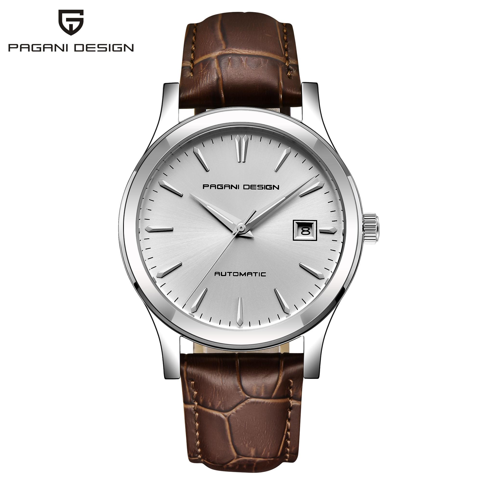 Мужские классические механические часы PAGANI дизайнерские деловые