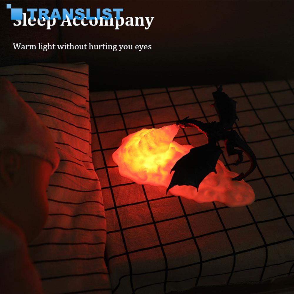 3D Printed LED Dragon Lamps as Night Light for Home Hot Sale than Moon Lamp Night Light with USB Rechargeable Best Gifts for Kid enlarge