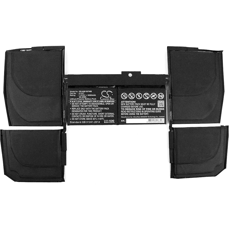 Get Cameron Sino 5200mAh Battery for Apple M F855LL/A,MacBook 12 inch Retina A1534,MLH72LL/A,MF855LL/A,613-01926 661-02267 A1527