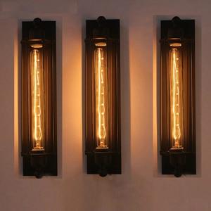 Modern Industrial Style  Wall Lamp Bedroom Decoration Interior for Home Vintage Light Indoor Lighting Black Wall Sconce Lights