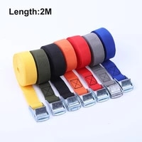 2m buckle tie down belt cargo straps for car motorcycle bike with metal buckle tow rope strong ratchet belt for luggage bag
