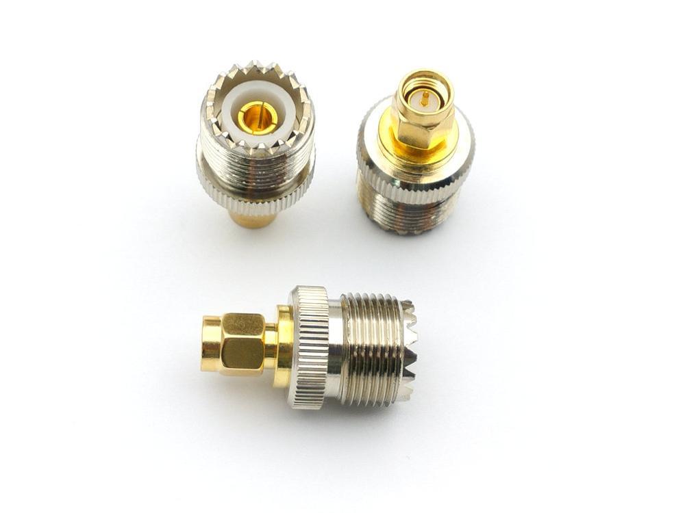 مقبس نحاسي UHF أنثى SO239 ، 20 قطعة ، محول SMA ذكر ، قابس RF