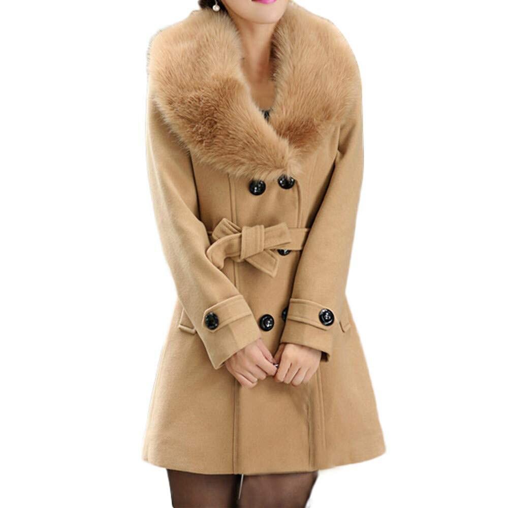 Женская Осенняя Зимняя шерстяная куртка, пальто с отложным воротником, оверсайз-Блейзер, верхняя одежда с длинным рукавом, элегантное шерст...