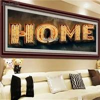 Peinture diamant theme Art domestique  broderie complete 5d  mosaique  lettres  decoration murale  bricolage  EE009