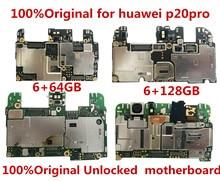 Plein fonctionnement 100% Original débloqué pour huawei p20pro P20Pro CLT-AL10 6 + 128GB carte mère logique carte mère plaque