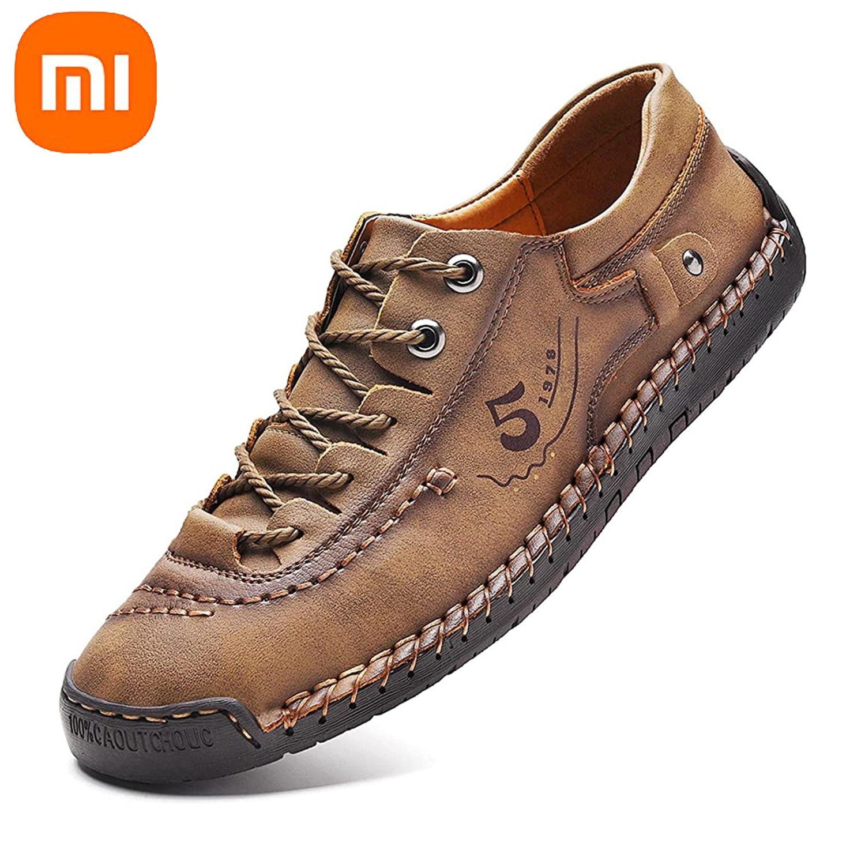 Кроссовки мужские кожаные, дышащие легкие, повседневная обувь, модные лоферы, ручная работа, размер 38-48