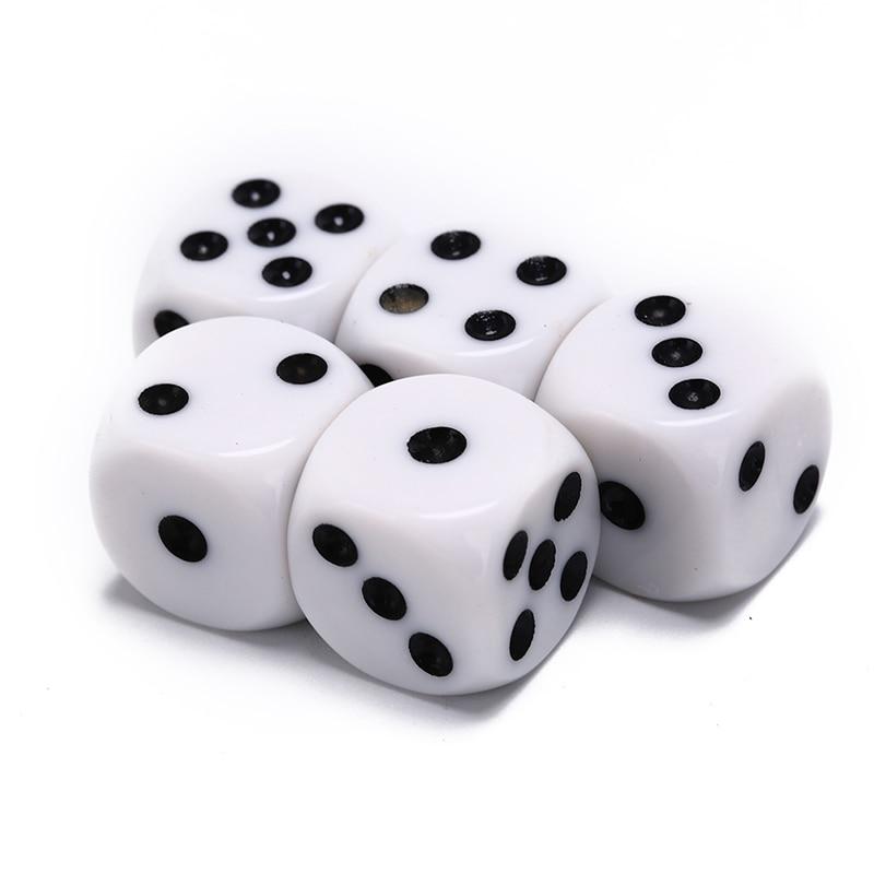10mm/12mm/16mm bebendo dados acrílico branco hexahedron dados canto redondo clube festa mesa jogando jogos jogo rpg dados