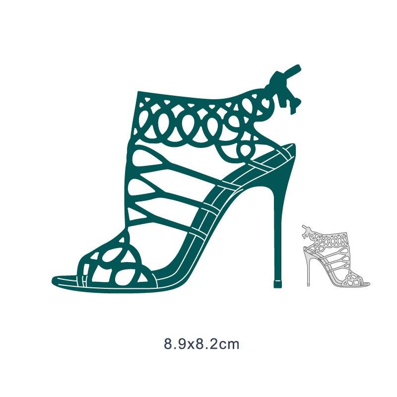 Señora collar con forma de zapatos Metal troqueles de corte para álbum de fotos papel gofrado confección de tarjetas matrices de Navidad 2020