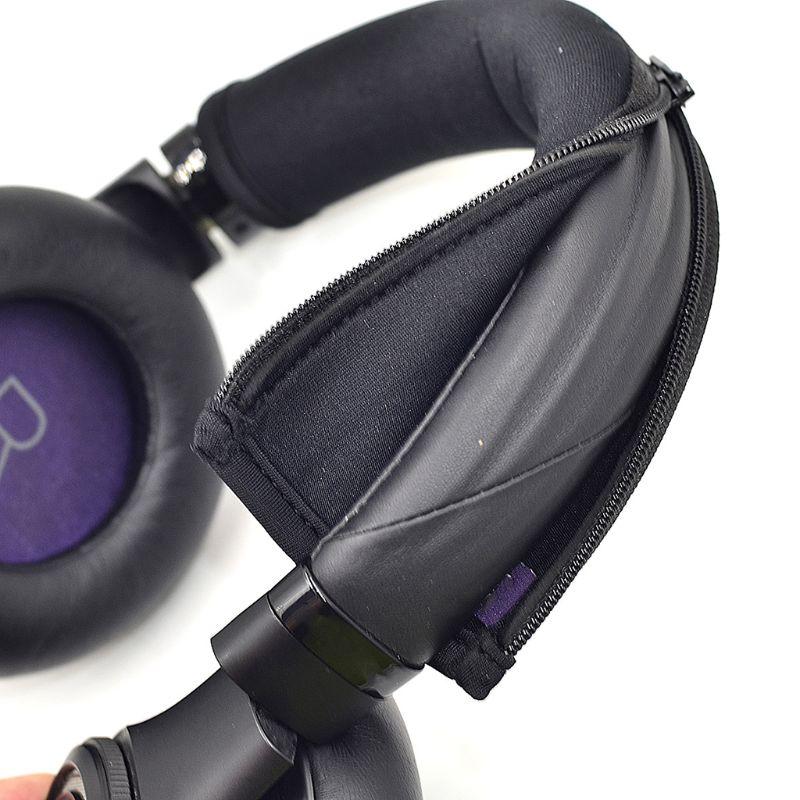 Auriculares cinta para la cabeza banda Flexible paño almohadilla con cremallera almohadilla superior Protector reemplazo para Plantronics BackBeat Pro 1 2