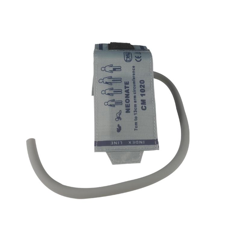 Reusable Noninvasive Blood Pressure Cuff NIBP Cuff Neonatal Size Medical Grade Single Hose Gray Color for Neonates