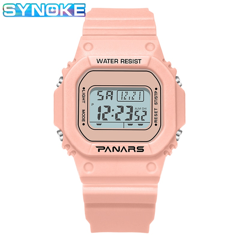 Moda Rosa 5Bar impermeable relojes de alta calidad LED Digital ver mujeres Unisex hombre deportes del reloj Relogio femenino