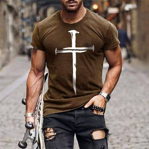 2021 Summer Hot Sale Men's T-shirt Street  Personality Fashion Clothes 3D Printing Street Fashion Oversize Short-Sleeved