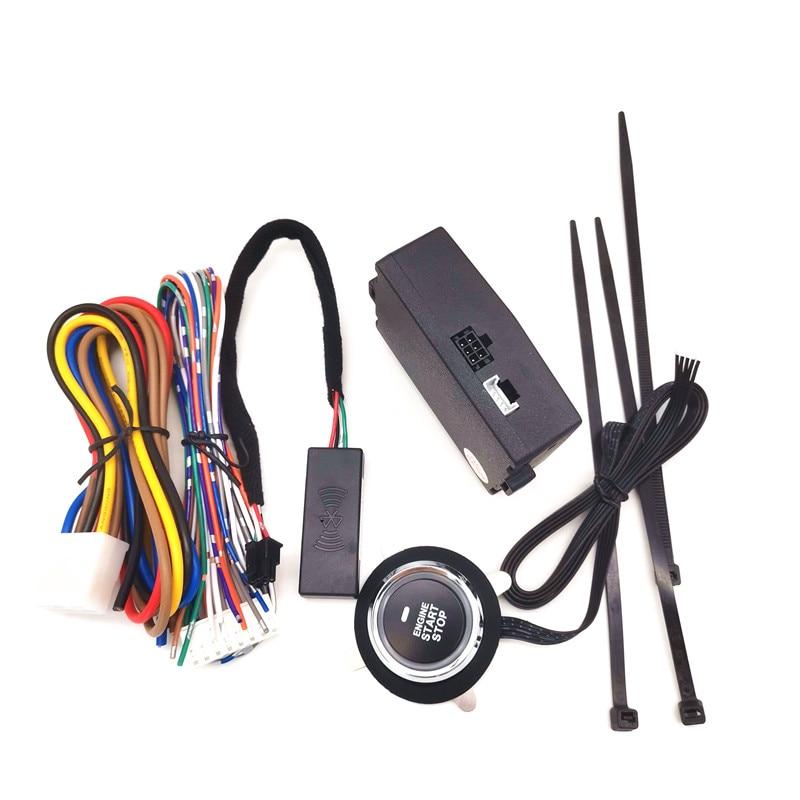 Smartphone Remote Control Car One-Key Engine Start Stop Button Bluetooth Smart Start System App Auto Central Locking Kit
