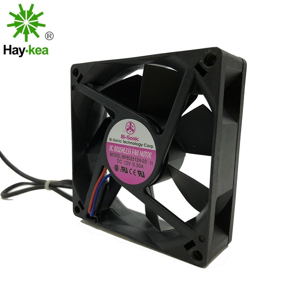 Bi-sonic-ventilateur de refroidissement pour châssis darmoire, pour modèle BP802512H-03, 80*80*25MM, 80CM, 8025 DC 12V, 0,3 a