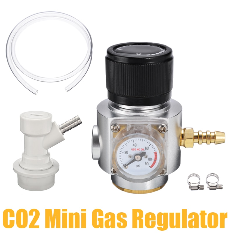 Regulador de gás co2 novo mini co2 regulador de gás sodastream co2 regulador de gás linha corny cornelius barril carregador bola bloqueio